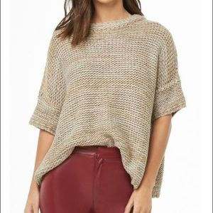 hers & mine Sweaters - Marled Brown Dolman Sweater